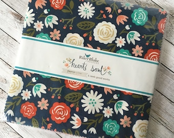 """QUILT MARKET Sale! 10"""" Heart and Soul Stacker by Deena Rutter and Seek Good Works for Riley Blake 10-6700-42"""