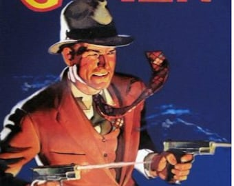 Sale 12X18 Giclee- G-MEN PULP Art pinup Detective FBI Gangster Illustration Art Deco action Film Noir Movies G-Man Pin-up