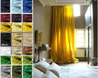 Princess Custom Satin 50 x 63 Drapes Lined -  You pick the color