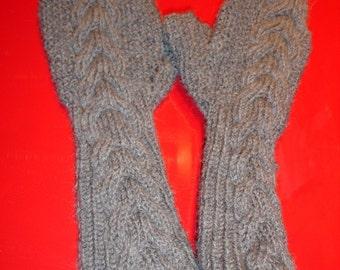 Custom knit Bella's Mittens