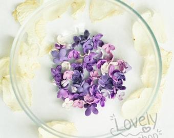 Flower beads polymer clay / lilac beads / jewelry supplies / polymer clay jewelry/ floral jewelry / polymer clay flowers / handmade beads