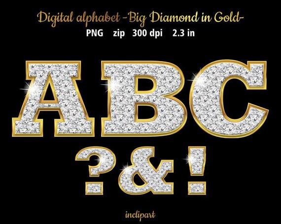 Diamond Alphabet Clipart Digital Download Letters And Symbols Clip