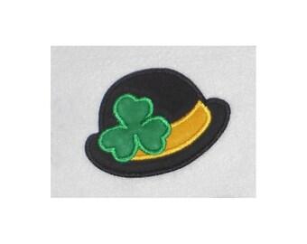 Shamrock Hat Embroidery Machine Applique Design-854