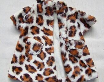 Vintage Animal Print Handmade Coat for Barbie Dolls