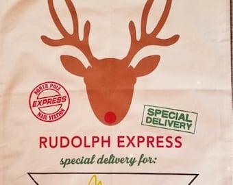 Rudolph Express Christmas Present Sack