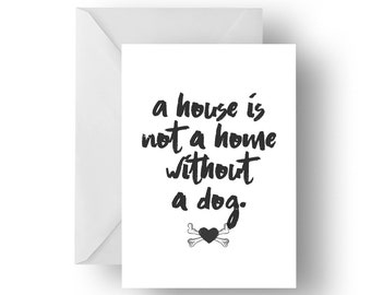 Dog quote greeting card, dog card, Greeting card, Quote greeting card, Dog quote