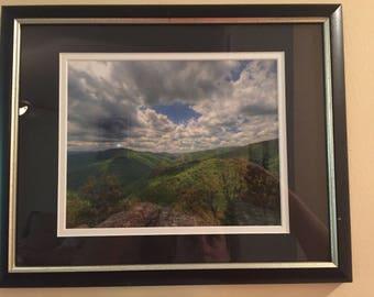Framed Mountain Photograph