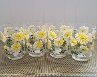 Vintage Libbey Daisy Glassware
