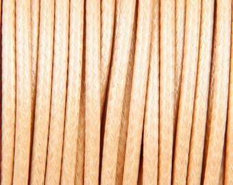 10 meters of waxed polyester cord 2mm beige Korean