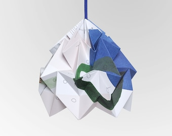 """Moth origami lampshade """"Droom"""" - in collaboration with Tas-ka"""
