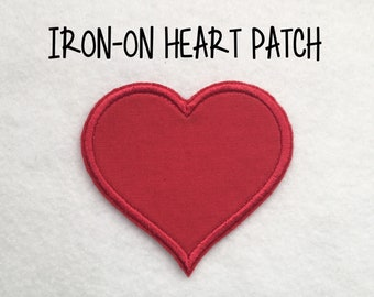 Iron-on Red Heart Patch Applique ***Ready to Ship in 1-2 Days!