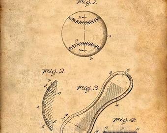 Baseball Patent Print Baseball Art Print - Baseball Coach Gift