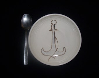 anchor in a cereal bowl