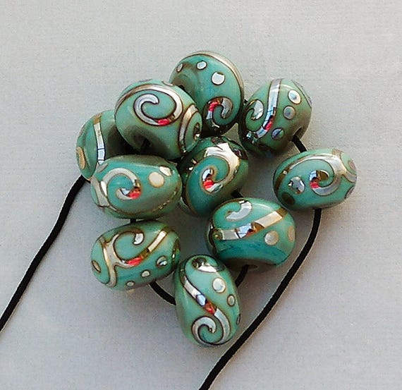 Lampwork Beads Glass Beads Crafting Supplies Bead Bracelets Jewelry Supplies Earrings Statement Necklace Bead Bracelet Debbie Sanders