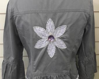 Upcycled ladies jacket size 12