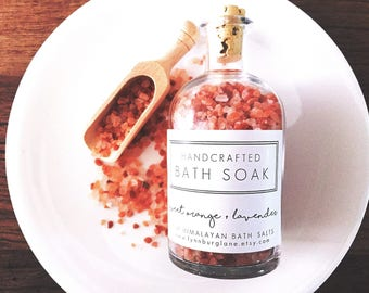 Bath Salts, Women's Gift for Wife birthday gift ideas, Natural Gifts for Women, Natural Salt Bath, Gift Box Ideas for Mom, Spa Gift Box