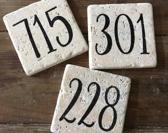Area Code (Elegant Font) Stone Coasters