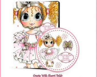 CD ROM Digital Digi Stamps Color images Card toppers Papers and MORE 100s of Images Big Eyed Art My Bestie  Little Sweeties By Sherri Baldy