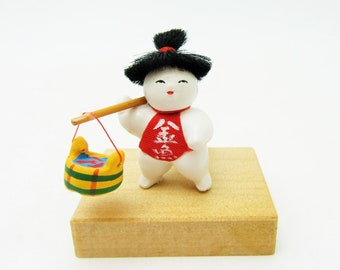 Miniature Japanese doll.Asakusa doll.Kingyouriuri/Goldfish selling.45mm.#jd8.msjapan