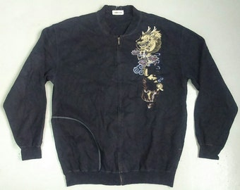 Rare Vintage KANSAI MAN DRAGON Sweatshirt Sweater Size L