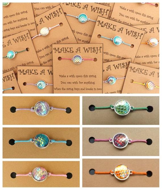 Irridescent Mermaid Scale Wish Bracelet