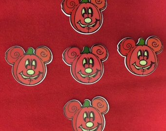 Set of 5 Mickey Mouse Halloween Pumpkin Resin
