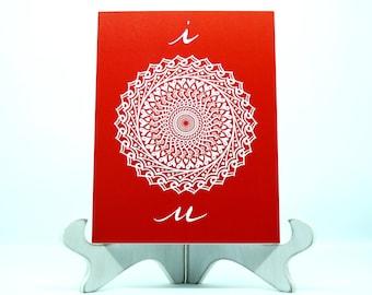 Love hidden word mandala greeting card i love u greeting card m4hsunfo