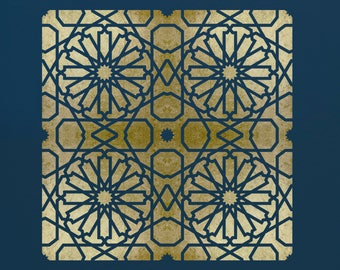 Moroccan Tile Stencil for Walls & Furniture  ST27