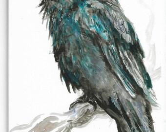 Raven, Gouache