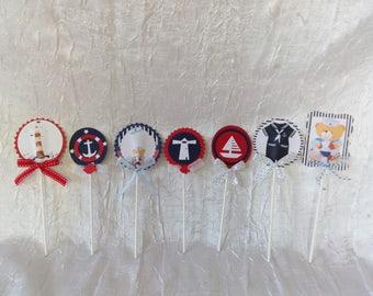 Sailor sea theme party table decoration