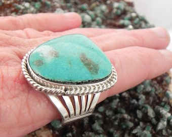 Native American Turquoise Man's Sterling Silver Ring