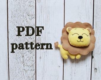 Plushie pattern Felt pattern Felt toys felt doll pattern Felt DIY pattern sewing tutorial easy pattern softie pattern Toy tutorial animal