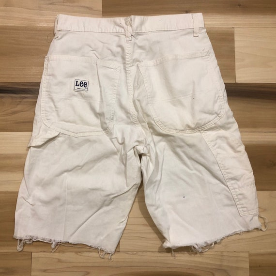 Lee Painter Pants Cut Off Shorts White Work Pants Made in USA Carpenter 28 waist