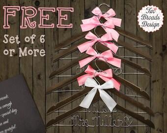 Set of 6 Wire Name Hangers, Wedding Hanger, Bride Hanger, Bridesmaid Hanger, Wedding Hangers, Personalized Hanger