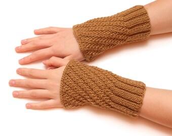 Unique fingerless gloves - warm winter mittens, fingerless gloves, womens arm warmers, hand knitted mittens, handmade gloves, gift for her