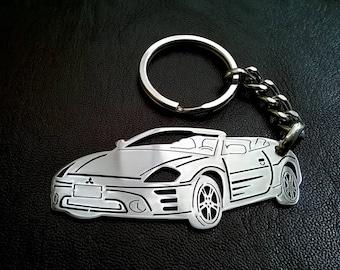 Mitsubishi Eclipse, Fathers Day Gift, Mitsubishi Keychain, Car Keychain,  Gift For Him