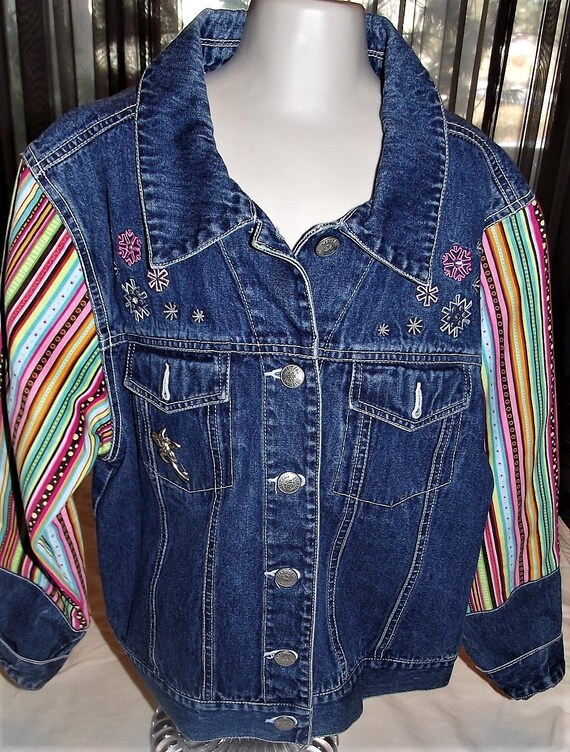 Refurbished Girls Denim Jacket, Size-14/16