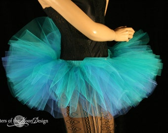 Adult tutu Mini Blues Peek a boo style skirt dance costume roller derby race run costume gogo -- You Choose Size -- Sisters of the Moon