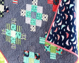 Baby Granny Squares Quilt Pattern//Baby Quilt Pattern//Charm Pack Pattern//PDF Pattern//ePattern//Instant Download