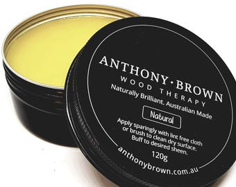 Anthony Brown Beeswax Furniture Polish Wood Therapy Natural