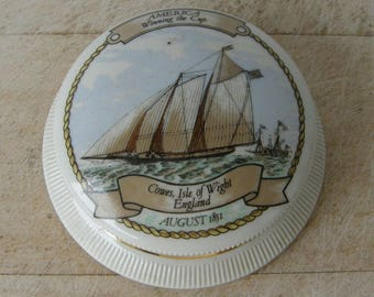 AMERICAN CLIPPER SHIP Racing Cup Winner Nautical Maritime Paper Weight Yacht 100th Anniversary of Victory London Harrods Store August 1851