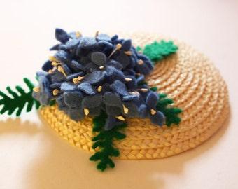 Hydrangea Flower Fascinator - flower hair accessory - flower fascinator - vintage style fascinator