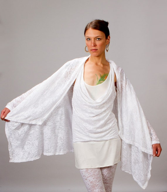 Calico Asymmetrical Women's Jacket in White for Womens Summer Fashion Womens Yoga Clothing Wholesale