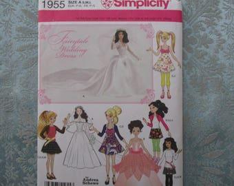 patterns, doll patterns, multi sized doll clothing pattern, doll wedding dress pattern, discounted patterns, barbie doll clothing, doll