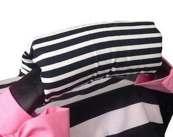 Black stripe arm cushion for car seat handle