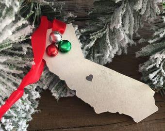 State Ornament Metal California Ornament Christmas Ornament CA Gift Ornament Gift California Christmas Ornament State Ornament Home is CA