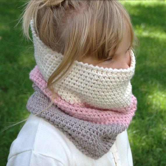 Crochet Pattern - Child Cowl Pattern Neck Warmer Pattern Crochet ...