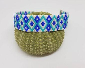 Diamond woven with Miyuki Delicas Beads Bracelet