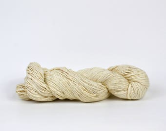 Undyed Silk Yarn Worsted Knitting Yarn - Dyeable Silk Yarn