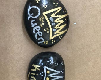 Painted Couple Distance Stones